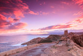 Purple dawn, Ile Rousse, Corsica — Stock Photo