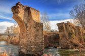 The ancient bridge at Ponte Novu, Corsica — Stock Photo