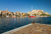The harbour and citadel in Calvi in Corsica — Stock Photo