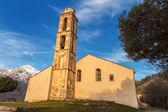 Chapel and bell tower near Pioggiola in Corsica — Stock Photo