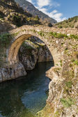 Genoese bridge at Asco in Corsica — Stock Photo