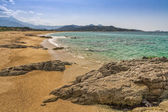 Losari Beach in Balagne region of Corsica — Stock Photo