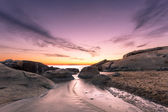 Sunset over Algajola beach in Corsica — Stock Photo