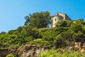 Chapel Santa Catalina on coast of Cap Corse in Corica — Stok fotoğraf