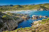 The coast of Corsica and Ostriconi beach — Stockfoto