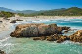 Ostriconi Beach in north Corsica — Stockfoto