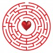 Love concept maze with heart — Stock Vector #40454257