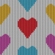 Knitted heart. Valentine day card — Stockvektor  #40454911