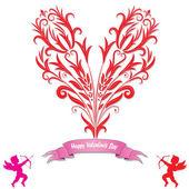Heart love card — Stock Vector