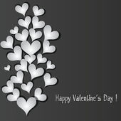 Love pattern heart banner background. — Stock Vector