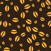 Coffee vector seamless beans background. — Stock Vector