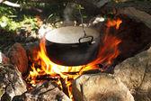 Panela no fogo — Foto Stock