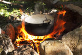 Pot on the fire — Foto Stock