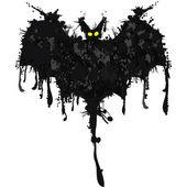 Bat. happy halloween-kort. vektor illustration — Stockvektor