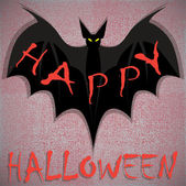 Bat. Happy Halloween card. Vector illustration — Stock Vector