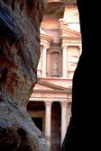 City, Petra, canyon, ancient civilization, Jordan, mountains, temples, architecture — Stock Photo