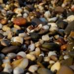 Pebble, stone, on, smooth, beach, outdoors, sea — Stock Photo