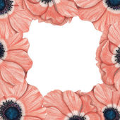 Frame of pink anemones — Stock Photo