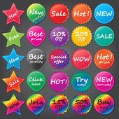 Shopping stickers — Vetor de Stock