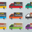 Delivery trucks sign — Stock Vector