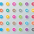 Media player buttons — Stock Vector #40872685