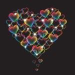 Rainbow heart — Stock Vector #40874171