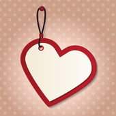 Kalp etiketi — Stok Vektör