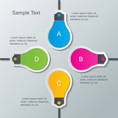 Paper bulb infographic template — Stock Vector