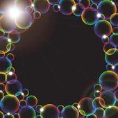 Rainbow bubbles — Stock Vector