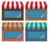 Storefront with awning — Stock Vector