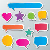 Speech bubbles — Vector de stock