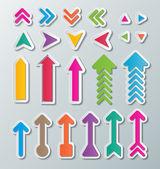 Paper arrows — Stock Vector