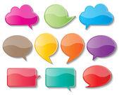 Kağıt konuşma balonları — Stok Vektör