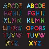 Abc font — Stock Vector