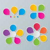 Paper flower infographics — Stock Vector