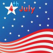 4 lipca – święto niepodległości — Wektor stockowy