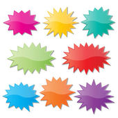 Starburst speech bubbles — Stock Vector