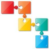 Quebra-cabeça infoghaphics — Vetorial Stock