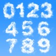 Cloud Numbers — Stock Photo #40218015
