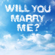 Cloud Marriage Proposal — Stock Photo