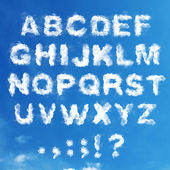 Set - the English alphabet from clouds — Stock Photo