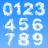 Cloud Numbers — Stock Photo