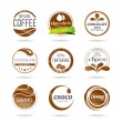 Chocolate, coffe and caramel icon design - sticker. — Stock Vector #40220775
