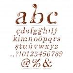 Chocolate Alphabet Lower Case Italic — Stock Vector
