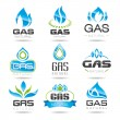 Stock Vector: Gas industry symbols
