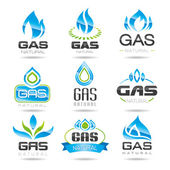 Gas industry symbols — Stock Vector