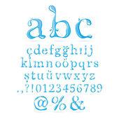 Воды алфавит нижний регистр — Cтоковый вектор