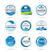 элементы дизайна вода. значок воды — Cтоковый вектор