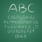 ABC letters on a blackboard — 图库矢量图片