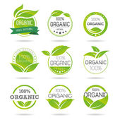 Ecology, organic icon set. Eco-icons — Stock Vector